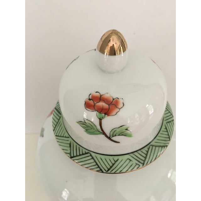 Metal Mid-Century Norleans Chinoiserie Lidded Urn - Made in Japan For Sale - Image 7 of 10