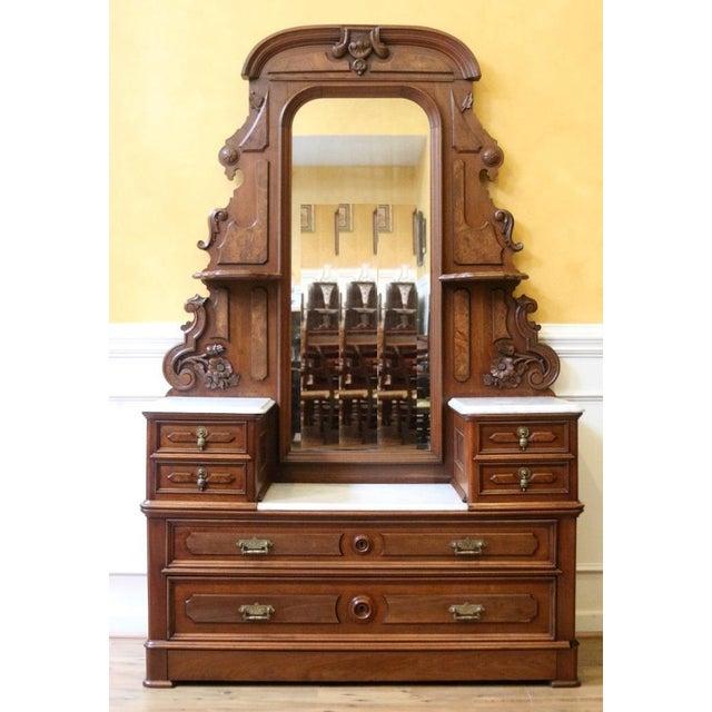 """Carved wood drawer pulls 4 1//4/"""" right and left Victorian Eastlake cabinet desk"""