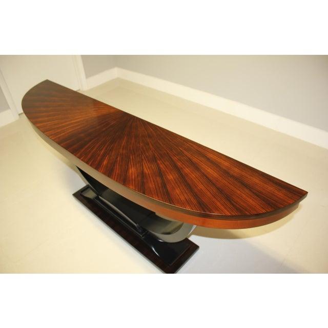 Art Deco 1940s Art Deco Exotic Macassar Ebony ''Sunburst'' Console Table For Sale - Image 3 of 13