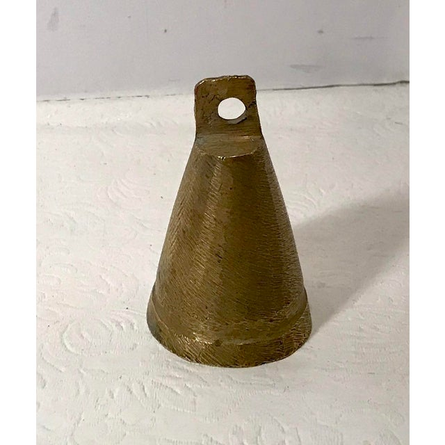 Nice vintage rustic brass bell with brass clapper. Nice sound!