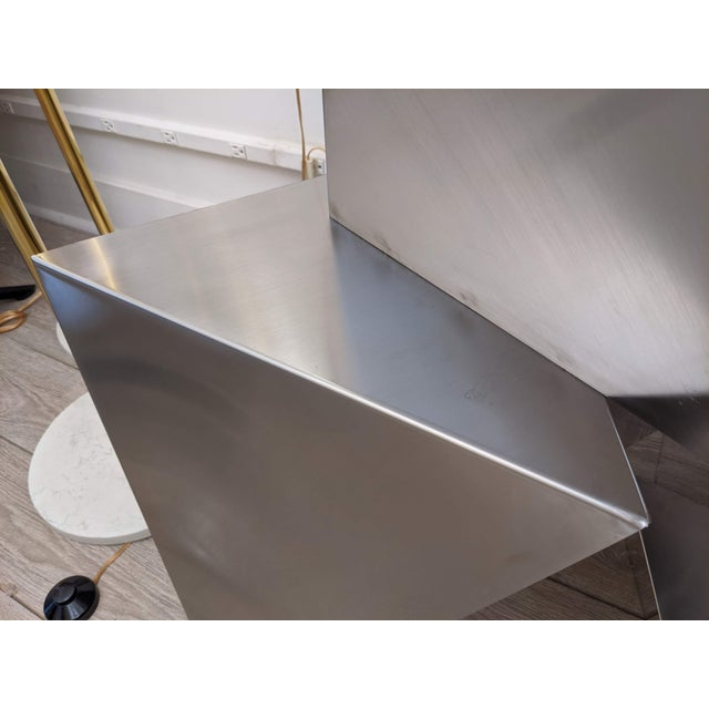 Chrome Modular Polyhedron Side Tables by Manfredo Massironi For Sale - Image 8 of 12