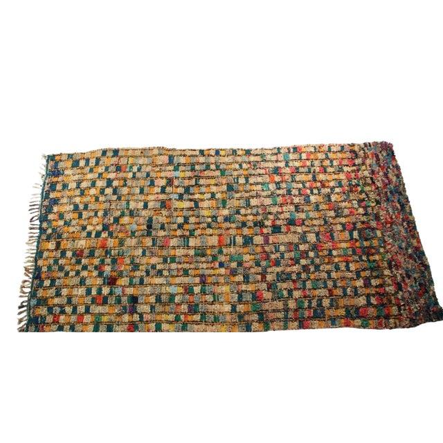 """Vintage Boucherouite Carpet -10'2"""" X 5'6"""" For Sale"""