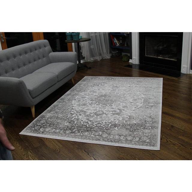 Gray Faded Medallion Rug - 5' X 8' - Image 3 of 6