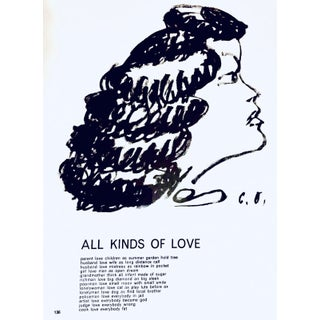 "Claes Oldenburg Original Lithograph From ""One Cent Life Portfolio"" For Sale"