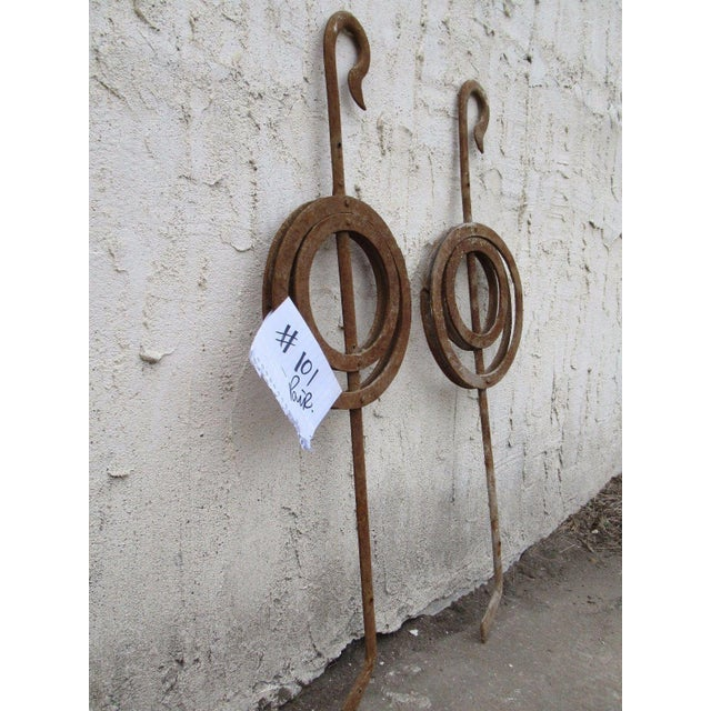 Antique Victorian Iron Gate Window Garden Fence #101 - a Pair For Sale - Image 5 of 7