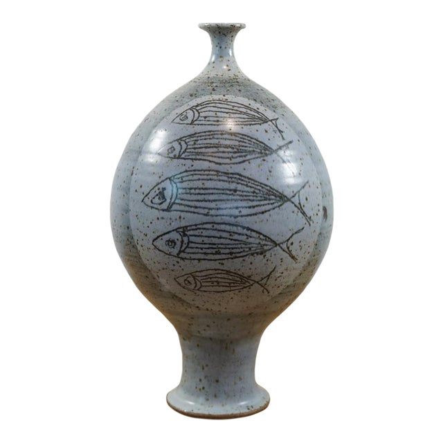1950s Antonio Prieto Bottle Shaped Vase For Sale