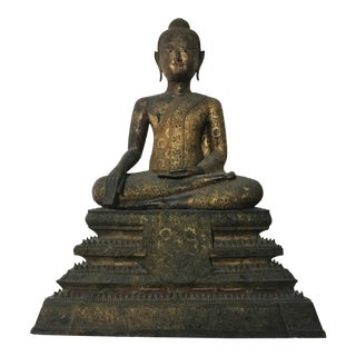Thai Gilt Rattanokosin Buddha For Sale