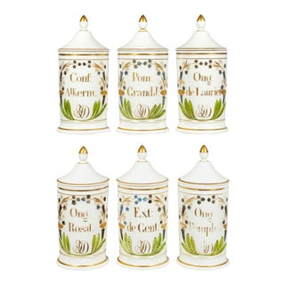 19th Century French Apothecary Jars - Set of 6 For Sale