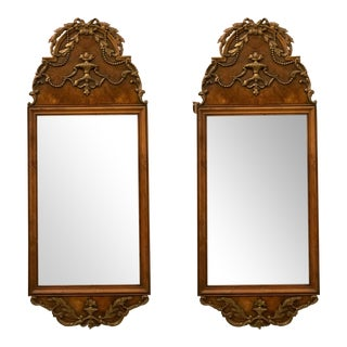 Pair of Italian Burl Mirrors