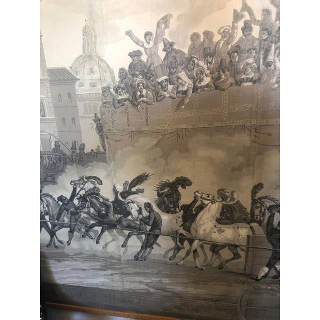 Grisaille Panel Depicting Neapolitans Watching Horse Racing For Sale In Washington DC - Image 6 of 10