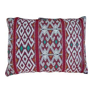 Moroccan Ornate Striped Berber Pillow For Sale