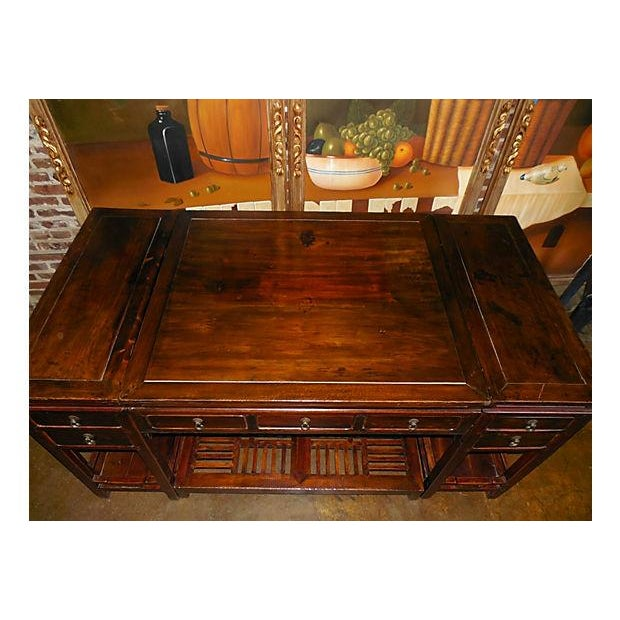Rare Chinese Rosewood Partner's Desk, C. 1920 - Image 3 of 9