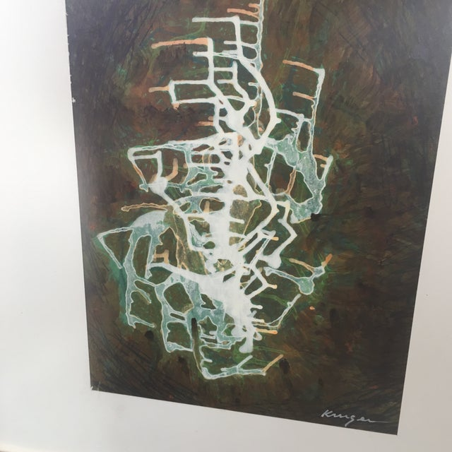 Watercolor & Gouache Abstract Painting - Image 3 of 6