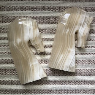 Vintage Onyx Horse Bookends - a Pair Preview