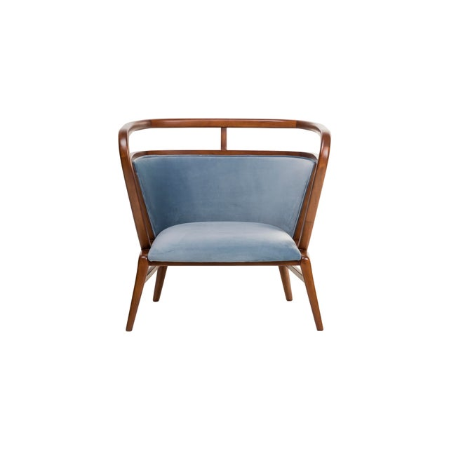 Contemporary Empire Collection Mid Century Scandinavian Walnut Lounge Chair For Sale In New York - Image 6 of 6
