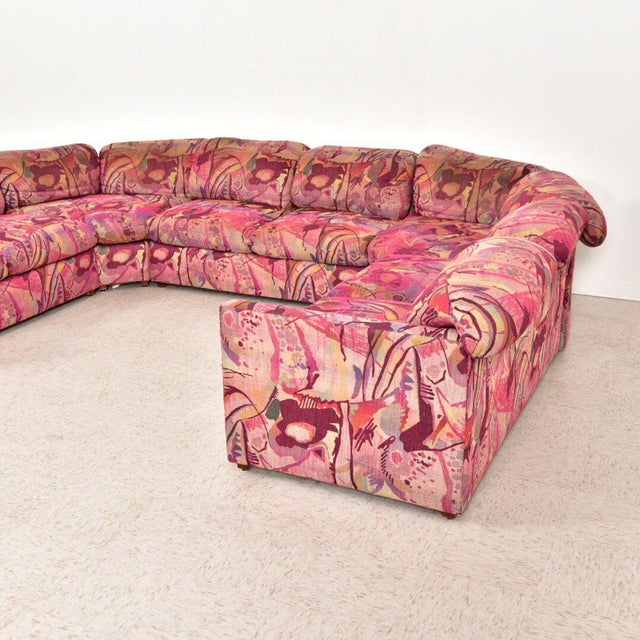 Textile Vintage 1980's Miami Beach Sectional For Sale - Image 7 of 10