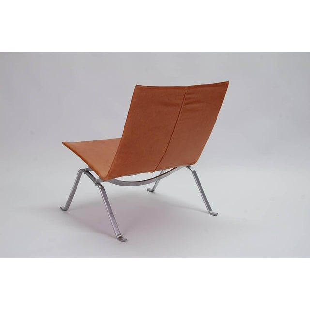 Mid-Century Modern 1960s Vintage Early Poul Kjaerholm Pk22 Lounge Chair For Sale - Image 3 of 8