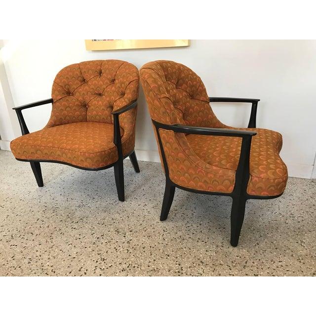 Dunbar Berne Pair of Classic Dunbar Janus Armchairs in Larsen Fabric For Sale - Image 4 of 10