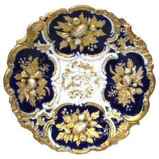 Meissen Cobalt & Gold Cabinet Plate