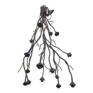 Modern Metal Tree Branch Chandelier For Sale