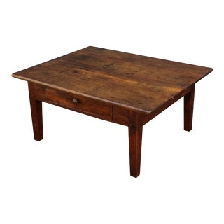 French Rectangular Low Table of Oak For Sale