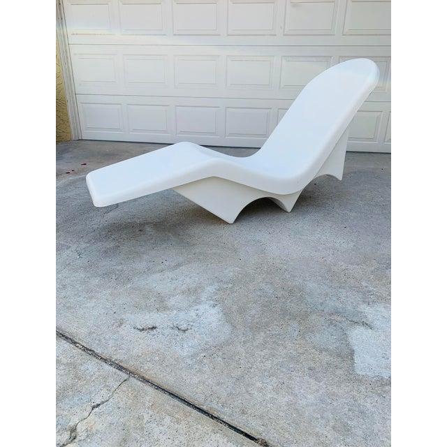 Mid-Century Fibrella Fiberglass Pool Sun Chaise Lounge by Le Barron For Sale - Image 12 of 12