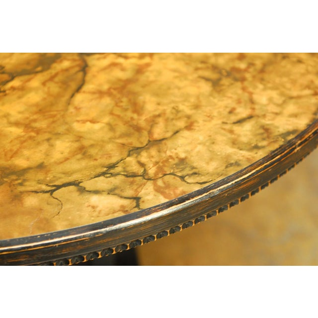 Mid-Century Modern Round Pedestal Table by Ritts For Sale In San Francisco - Image 6 of 7