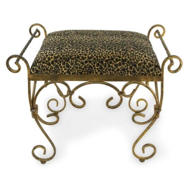 1960s Vintage Vanity Stool Cast Iron For Sale - Image 5 of 5