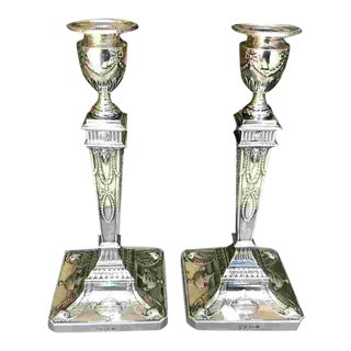 Early 20th C. British Sterling Candlesticks For Sale