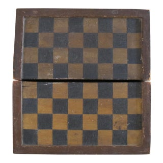 Rustic Painted Folded Checkerboard For Sale