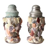 Image of Vintage Mosaic Salt and Pepper Shakers For Sale