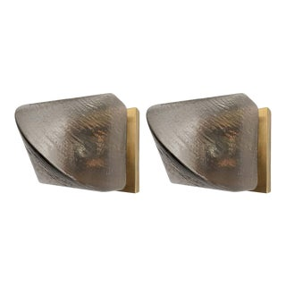 1970s Peill and Putzler Glass Sconces - a Pair For Sale