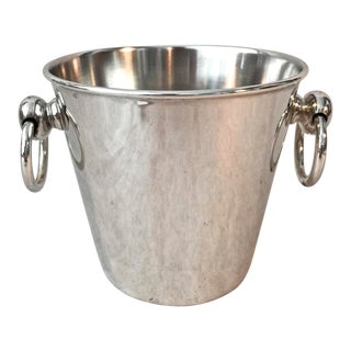 1980s Vintage Silver Pottery Barn Small Ice Bucket For Sale