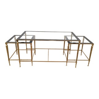 Rare 1940's Nesting Triparte Coffee Table