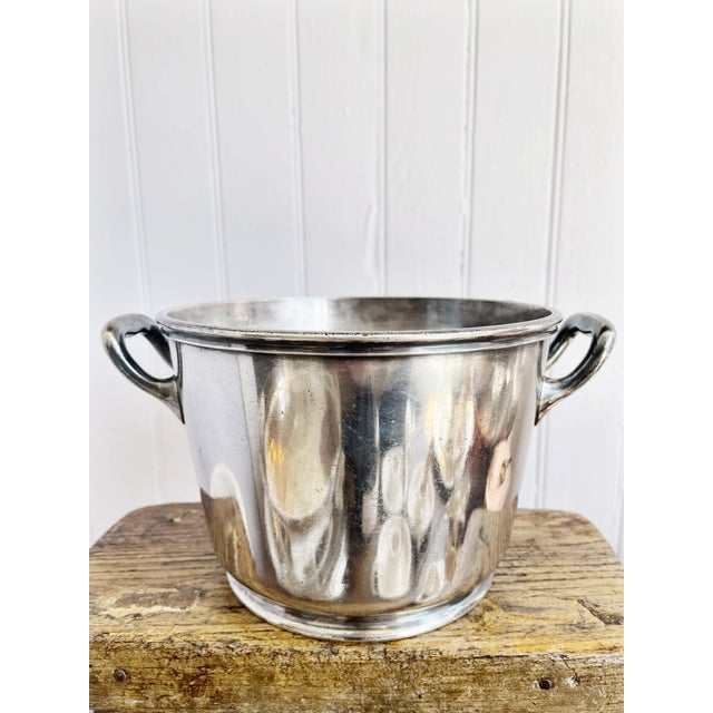 Silver Silver Plated Ice Bucket From South Shore Line Railroad For Sale - Image 8 of 9