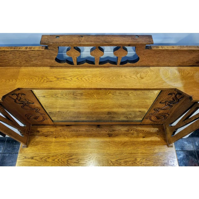 Early 20th Century Antique Shapland & Petter William Cowie Arts & Crafts Oak Sideboard For Sale - Image 10 of 11
