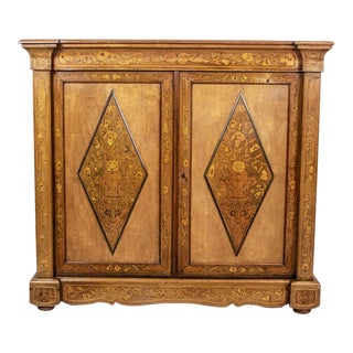 20th-Century Richly Inlaid Cabinet For Sale