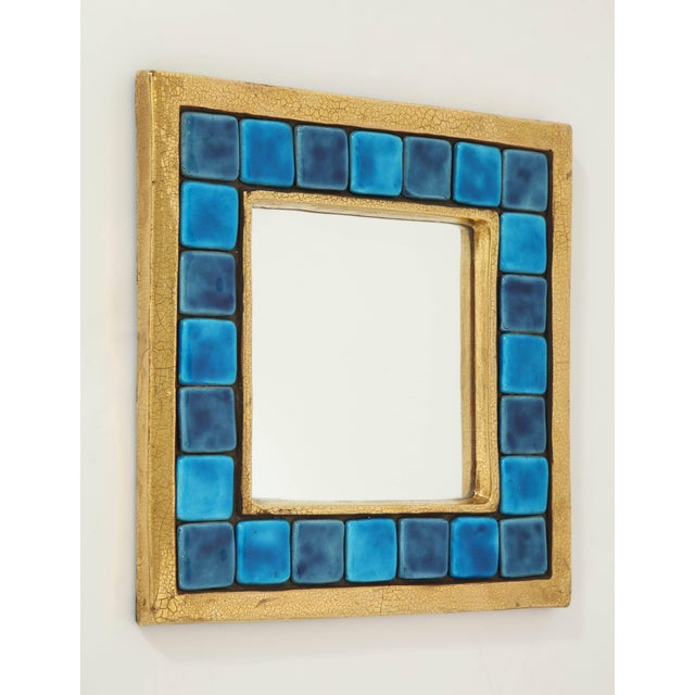 An exquisite work of art created by French designer Francois Lembo. The ceramic frame features a crackled gold glaze,...