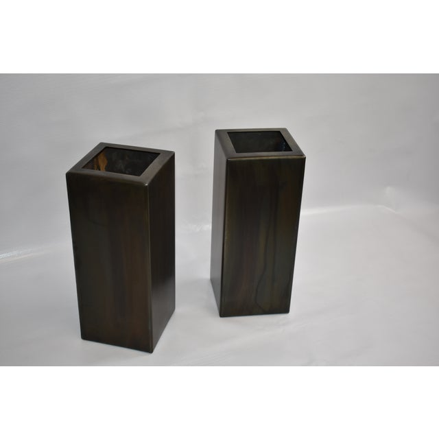 Antic Steel Boxes - A Pair For Sale - Image 4 of 4