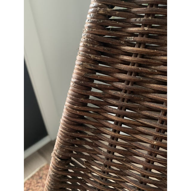 Wicker and Iron Lounge Chair For Sale In Indianapolis - Image 6 of 9