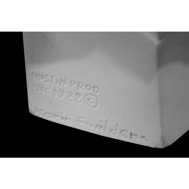 Cubism Karin Swildens White Deco Man and Woman Cast Sculptures For Sale - Image 3 of 13