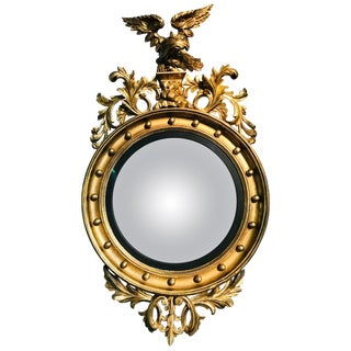 Convex Mirror, Regency Period For Sale