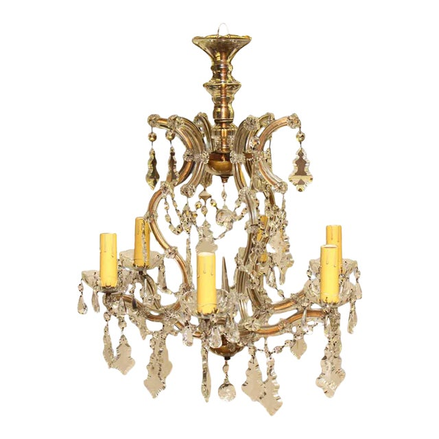 Marie Therese Crystal Antique Chandelier For Sale