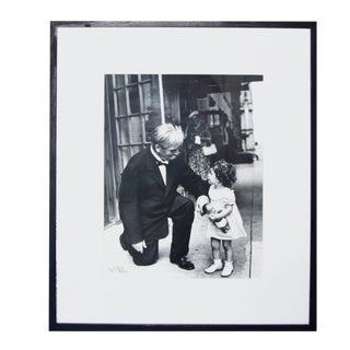 "Nat Fein Signed ""Albert Schweitzer"" Silver Gelatin Photograph For Sale"