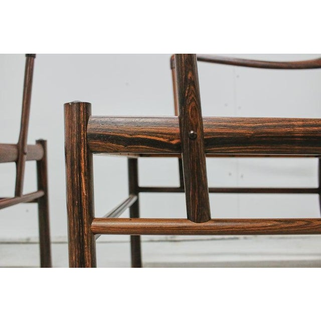 Rosewood Ole Wanscher Colonial Chairs, P. Jeppesens Møbelfabrik, Denmark, 1960s For Sale - Image 12 of 13