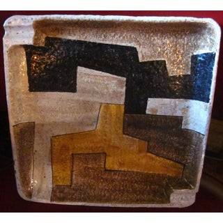 Vintage Mid Century Raymor Abstract Geometric Pottery Ashtray Preview