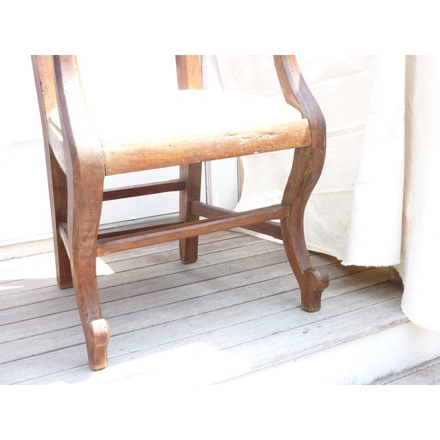 Rustic Walnut Armchair - Image 7 of 7