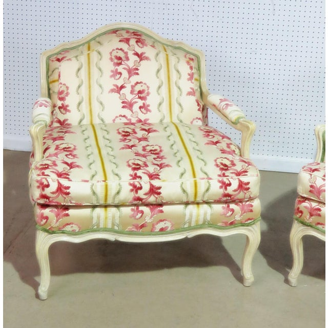 Louis XV Companion Pair of Louis XV Style Chairs For Sale - Image 3 of 9