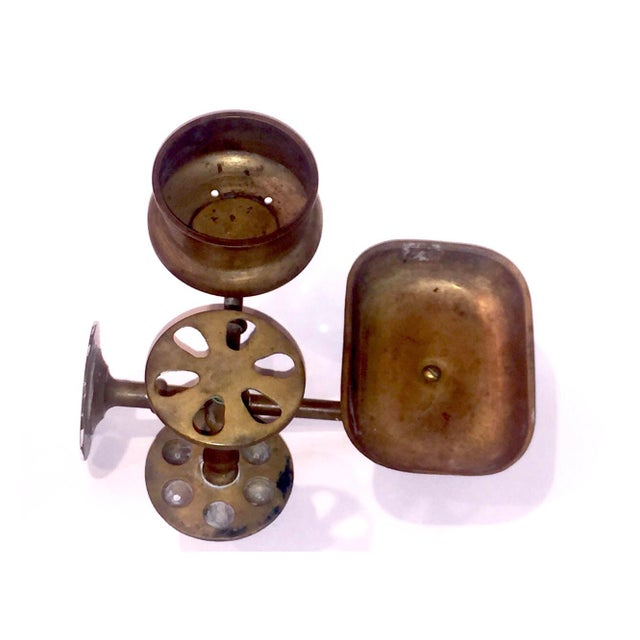 Vintage Brass Bathroom Wall Fixture For Sale - Image 4 of 12
