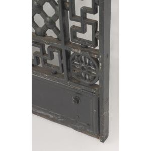 American Victorian style (19/20th Cent) iron gates with filigree scroll design and lattice base For Sale In New York - Image 6 of 11